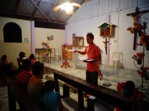 Ryan Lawless Preaching in Colonia Bolivar