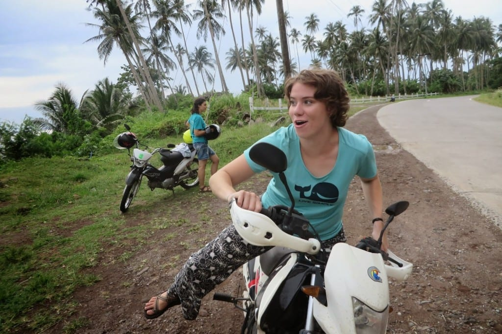 Riding Motor bikes in the Philippines