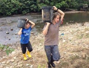 Carrying Bucket in Ecuador
