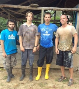 Ecuador Missionary Guys at Work