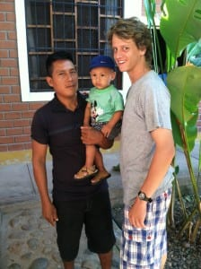 Matthew with Ecuadorian Family