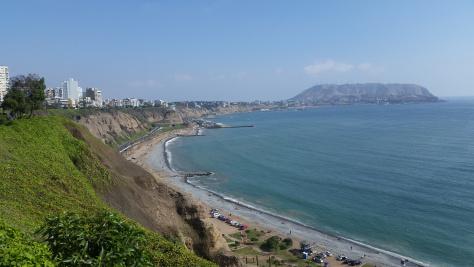 Pacific Coast in Lima, Peru